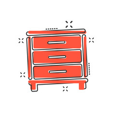 cartoon cupboard icon in comic style furniture vector image