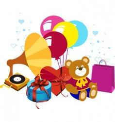 celebration background vector image