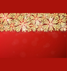 Christmas gold glittering snowflakes background vector