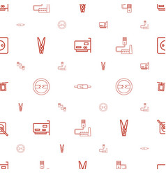 cord icons pattern seamless white background vector image