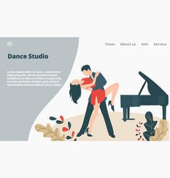Dancer dance modern style couple professional vector