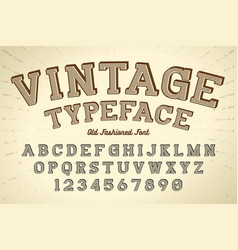 Decorative vintage retro typeface font vector