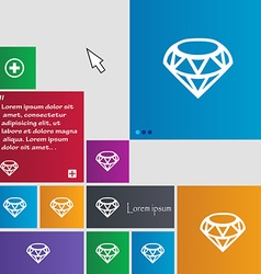 Diamond Icon sign buttons Modern interface website vector image