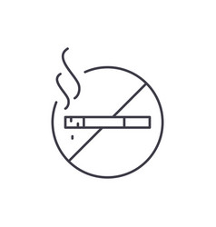 do not smoke line icon concept do not smoke vector image