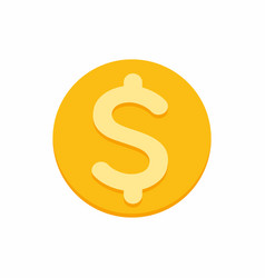 dollar currency symbol on gold coin vector image