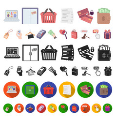 E-commerce purchase and sale cartoon icons in set vector