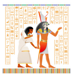Egyptian papyrus from book dead with afterlife vector