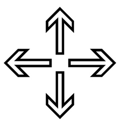Expand Arrows Outline Icon vector