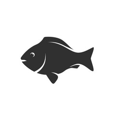 fish black icon vector image