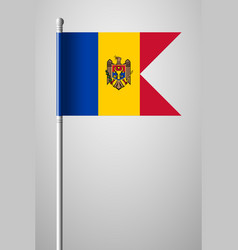 Flag of moldova national flag on flagpole vector