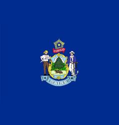 flag usa state maine vector image