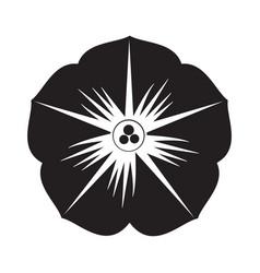 flat black petals icon vector image