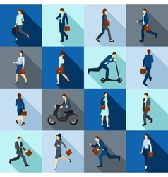 Go Working People Icons Set vector image