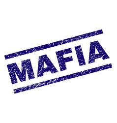 Grunge textured mafia stamp seal vector