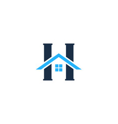 h letter house logo icon design vector image