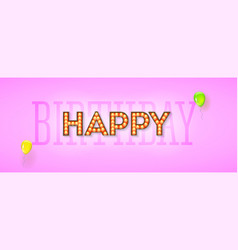 happy birthday design retro lettering vector image
