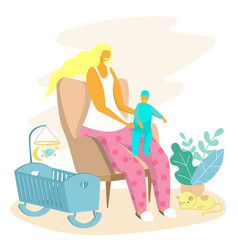happy motherhood baby care concept for web vector image