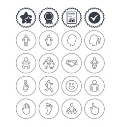Human icons toddler and pregnant woman vector