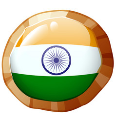India flag design on round badge vector