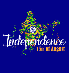 indian independence day 7 vector image