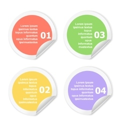 Infographics Design template Numbered circle vector