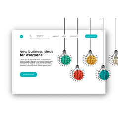 Internet business web app landing page template vector