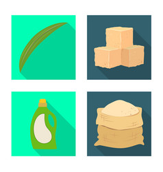 isolated object industry and sugarcane logo vector image