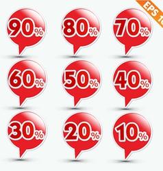 Label sale sticker tag - - EPS10 vector