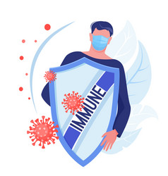 man health protection from bacterium or disease vector image
