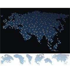 Map dot eurasia vector
