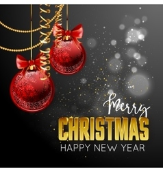 Merry Christmas and happy new year design template vector