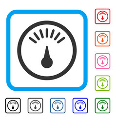 meter framed icon vector image