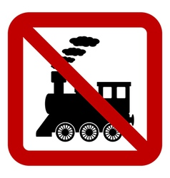 No locomotive sign vector image