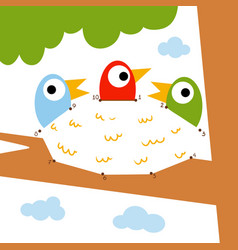 numbers game for children nest vector image