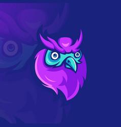 owl mascot logo vector image