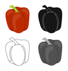 Pepper icon cartoon singe vegetables icon from vector