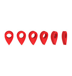 pointer mark on the map isometric icon map vector image