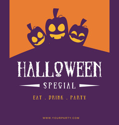 Poster style halloween theme collection vector