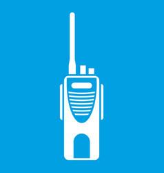 Radio transmitter icon white vector