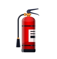 Realistic fire extinguisher icon isolated on white vector