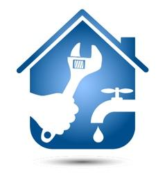 Repair plumbing home vector