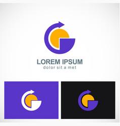round arrow point technology logo vector image