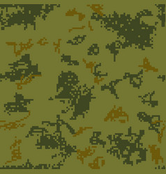seamless camouflage of pixel pattern vector image