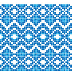 Seamless pattern or ornament of embroidery vector