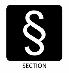 Section symbol vector