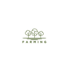 Seeds farming logo design for agriculture vector