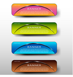set of colored banners template with headline vector image