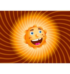 smiling sun isolated vector image