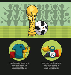 Soccer tournament infographic vector
