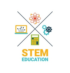 STEM education concept vector